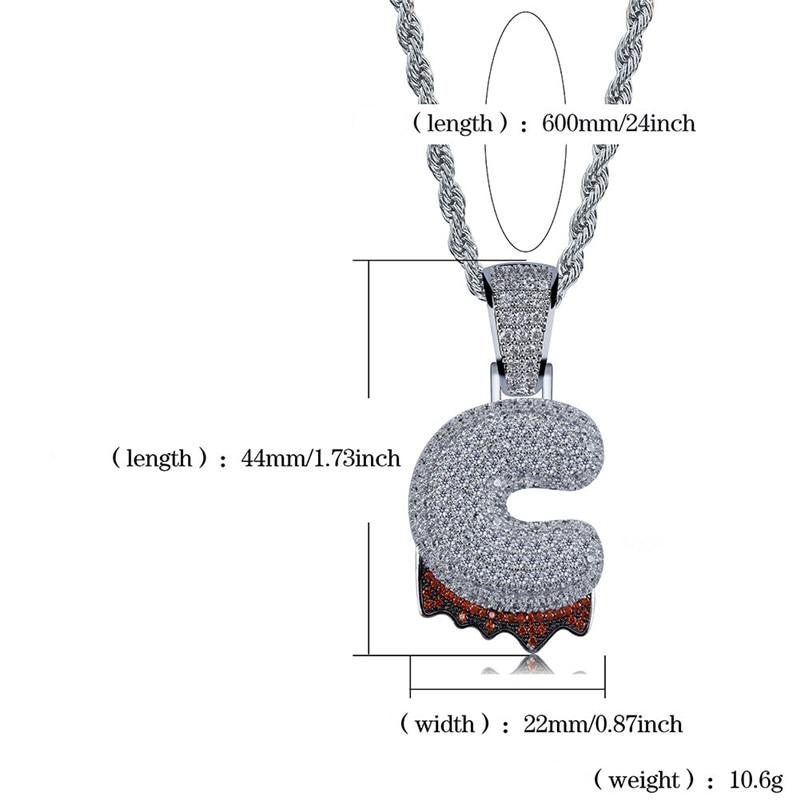 bubble letter necklace38
