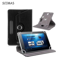 SCOMAS Universal 360 Degree Rotating Folio Flip Case Cover For Android Ipad Tablet PC 7 8
