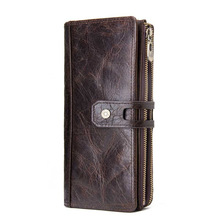 Men Business Leather Clip Cowhide Wallet Men Purse Short wallet card case purse wallet hasp coin bifold leather Quality Wallet