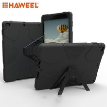 Haweel Tablet Case For iPad 9.7 (2018) (2017) PC+Silicone Shockproof Protective Back Cover Case With Holder New Protective Case стоимость