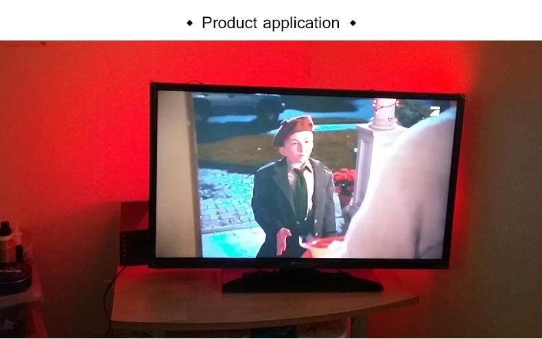 HTB1 TMFbiHrK1Rjy0Flq6AsaFXaC 1M 2M 3M LED TV Backlight RGB Neon lamp 5050SMD LED Strip Light For TV HDTV background Lighting with 24 keys remote control