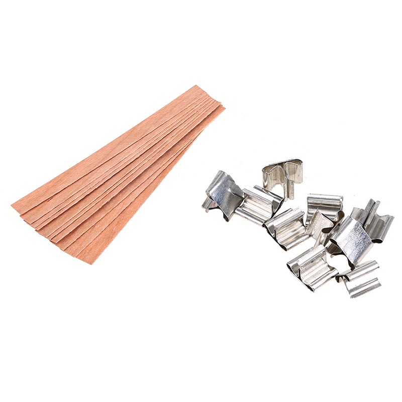 210109010131 (7)  WHISM 10PCS Handmade Wooden Candle Wicks DIY Candle Making Provides Picket Wax Candle Sustainers Core with Steel Stand Dwelling Decor HTB1 TMNl3DD8KJjy0Fdq6AjvXXar