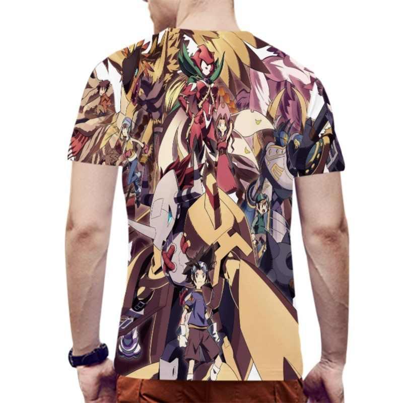 YOUTHUP Новые Аниме Digimon футболки с монстром для мужчин 3D печатных короткий рукав Футболка повседневные топы классные уличные футболки Harajuku