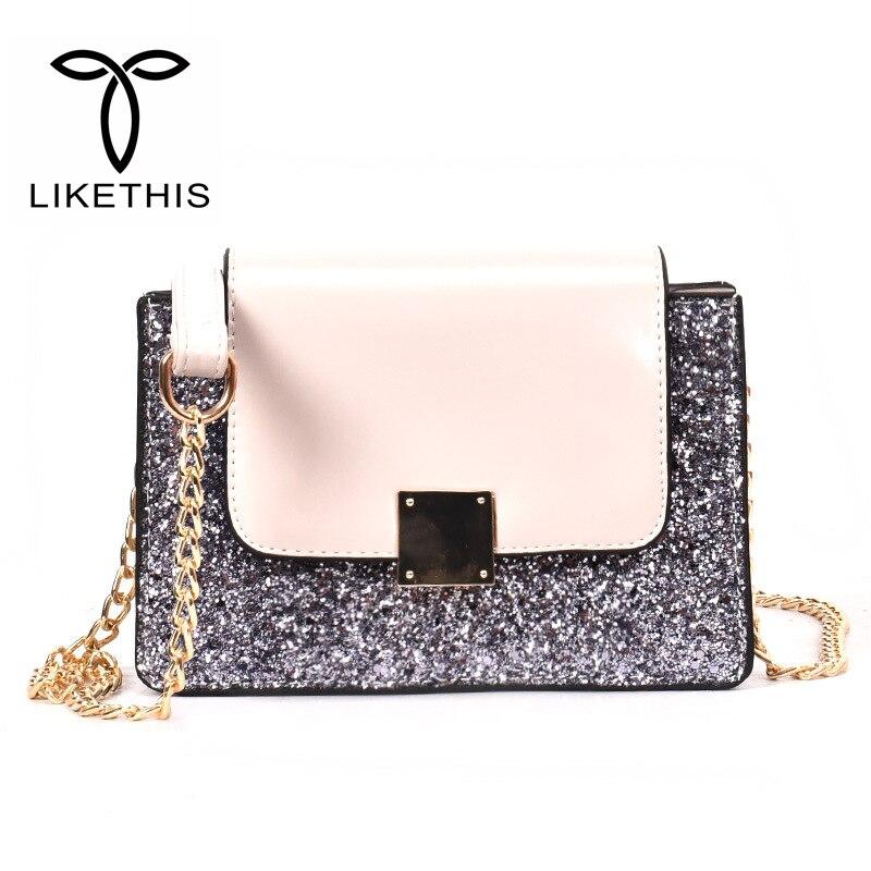 Women Messenger Bag Leather Luxury Solid Color Chains Shoulder Straps Femme Handbag Ladies Brand Design Flag Bag For Women Sac