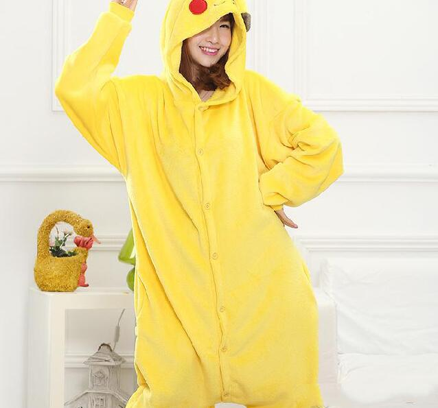 Pikachu Cosplay Outfit Pajamas Cosplay Costume Pyjamas Onesies Unisex Adult Romper Anime Costumes Poke