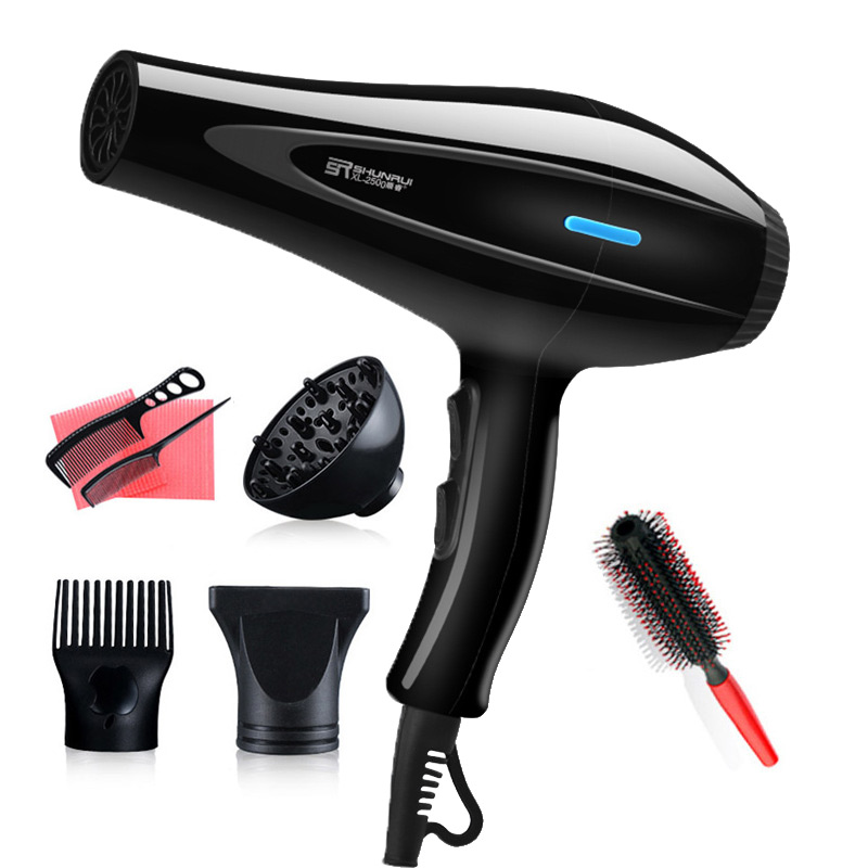 Powerful Professional Salon Hair Dryer Blow Dryer Electric Hairdryer Hot/Cold Wind With Air Collecting Nozzle D40