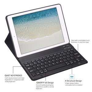Image 4 - Keyboard Case For iPad 2018 Air 2 / Air 1 / for iPad 2017 2018 Case 9.7 Silicone Soft Back Inside Smart Cover Multi Angle Stand