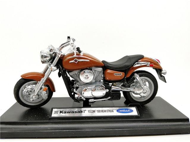 Welly 118 Kawasaki 2002 Vulcan 1500 Mean Streak Motorbike Diecast Motorcycle
