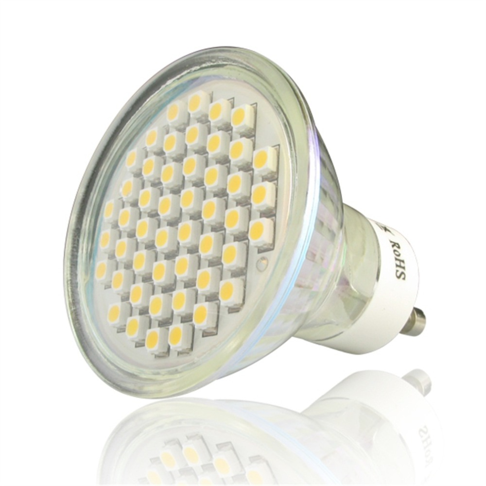 High Brightness Heat Distribution Non Dimmable10 x GU10 3.6W 48 SMD3528 LED Spot Light Bulbs Warm White/Day White