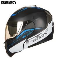 BEON Modular Motorcycle Helmet Flip up Open Full Face Helmet Moto Casque Casco Motocicleta Capacete B70011 Dual Visors Helmets