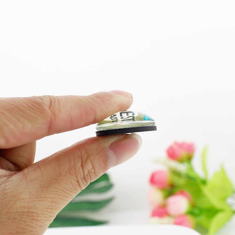 Jweijiao 25mm grânulos de vidro bela montanha árvore paisagem pintura magnética adesivo geladeira ímã diy jóias descobertas sr03