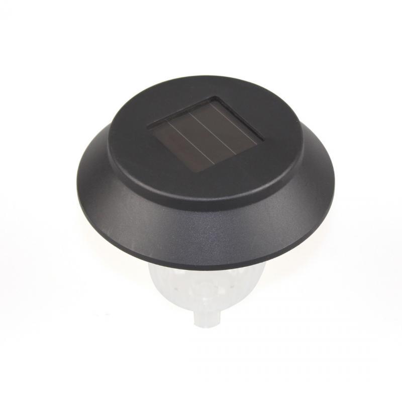Discolor Solar Plastic Garden Lawn Lamp Plug LED Light Pathway Garden Lamp Automatically Decoration Lighting