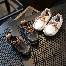 BBK 2017 new spring autumn fashion leather shoe girls boys 1-3 years comfortable flats casual shoe doudou child baby shoes B*
