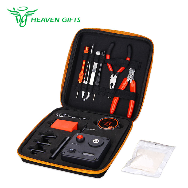 E cig DIY Tool Kit V3 Coil Deck Base Tweezers Pilers T Screw Organic Cotton Wires