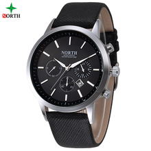 NORTE Del Relogio masculino Relojes de Moda Los Hombres Famosa Marca Reloj Deportivo Hombre Reloj de pulsera de Cuarzo de Lujo whatch Hombres de Negocios Reloj de Los Hombres