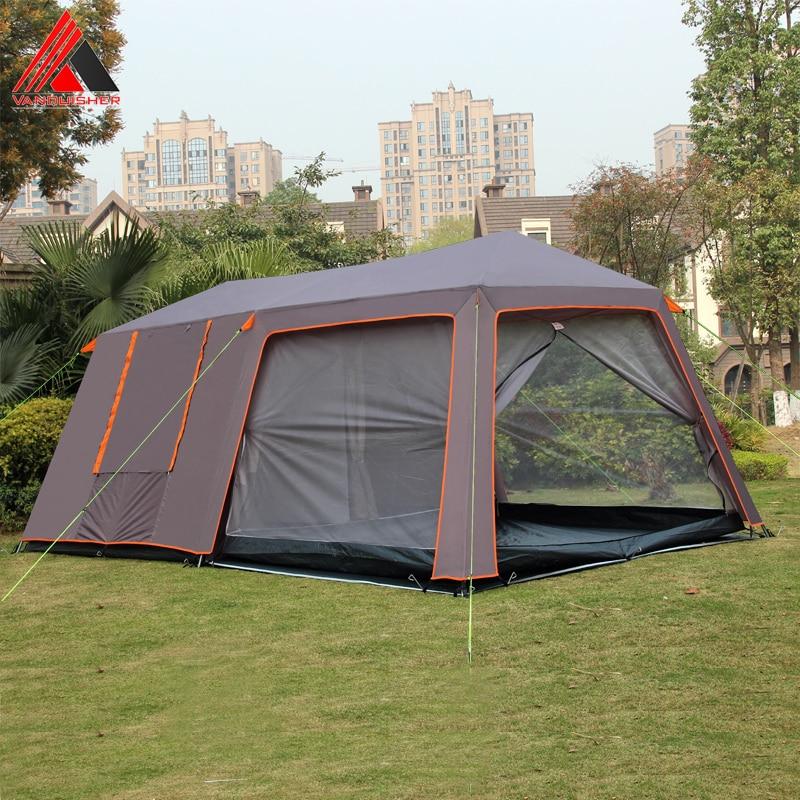 Vanquisseur grand espace un hall deux chambres imperméable coupe-vent famille fête camping tente avec top bonne qualité