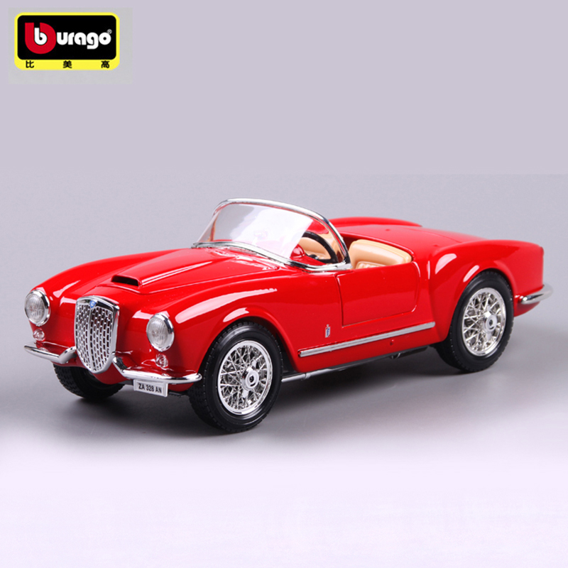 Bburago LANCIA B24 Spider 1:18 Scale Car Model Alloy Toys Diecasts & Toy Vehicles  Collection Gift For Children bburago 360 challengr 1 24 alloy car model toys diecasts