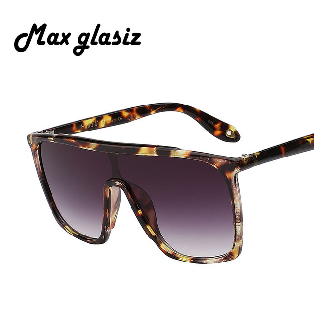 0d79596245 Max glasiz 2017 summer style classic women sun glasses big square uv400  oversized frame sunglasses gradient eyewear men