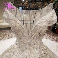AIJINGYU Luxury Wedding Dress As Gowns Ball 2018 Modern Shiny Robe Size Plus Gown Folk Wedding Dresses Usa