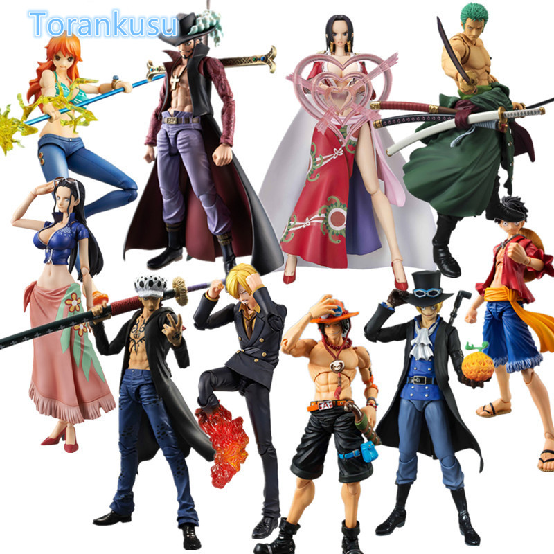One Piece Action Figure Luffy Zoro Nami Ace Law Sabo Robin VAH S.H.Figuarts PVC Model Toy Anime One Piece Collectible Doll OP31 one piece action figure roronoa zoro led light figuarts zero model toy 200mm pvc toy one piece anime zoro figurine diorama