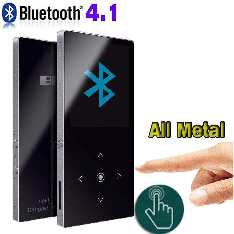Lecteur mp3 Bluetooth écran tactile BENJIE K8 haut-parleur intégré 4 GB 8 GB lecteur de musique 1.8 pouces écran sans perte son HiFi avec FM