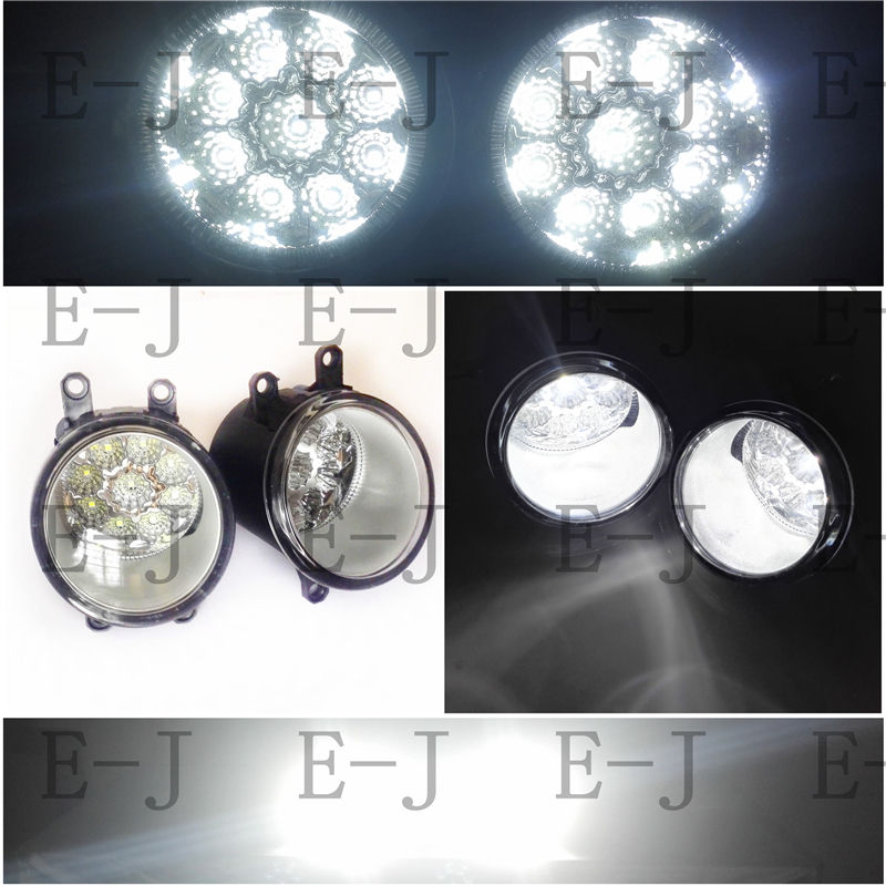 3000-10000K Lights DRL LED For TOYOTA WISH 2009-2015 Fog Lamps White/Yellow/Blue 1 SET 81210-0D042 3000 10000k lights drl led for lexus rx gyl1 ggl15 agl10 450h awd 350awd 2008 2013 fog lamps white yellow blue 1 set 81210 0d042