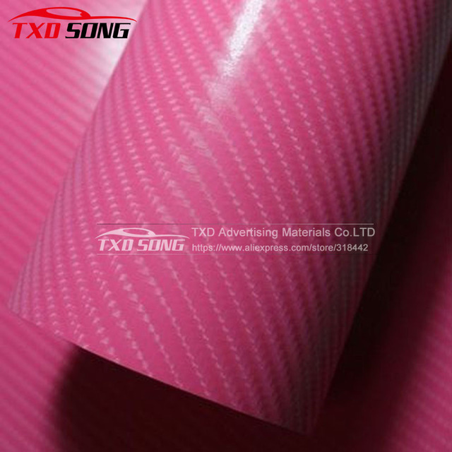 Whole Roll selling Pink 4D Carbon fiber with air free bubbles 4D carbon  film for car afd0a84a7eb1