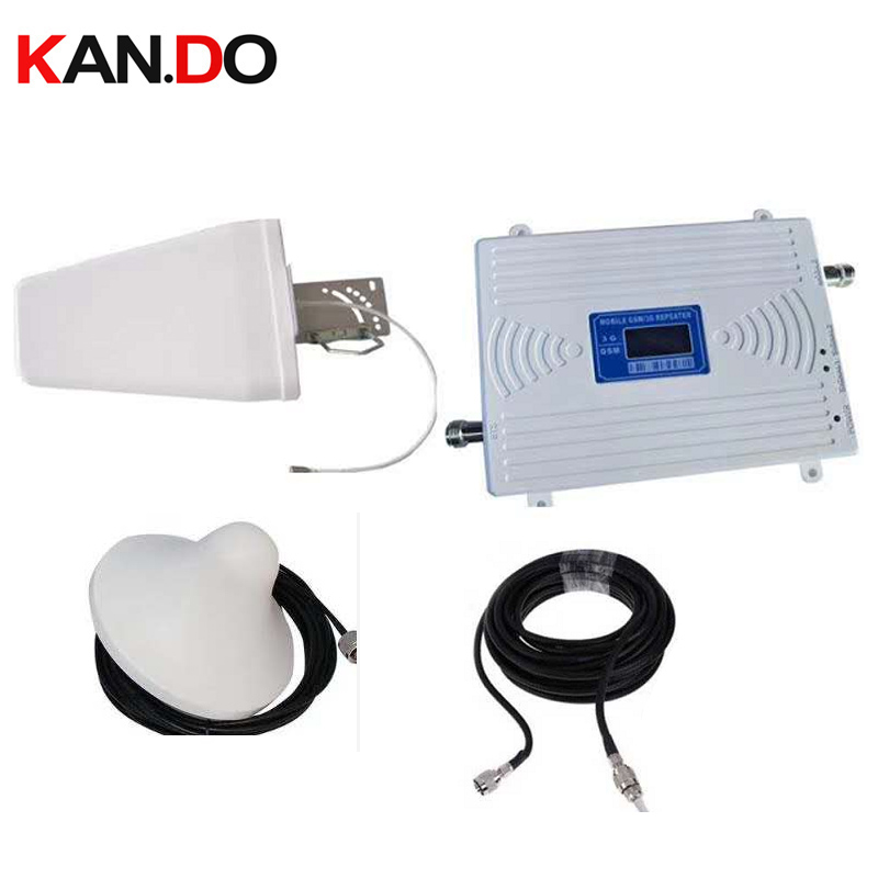Double bande booster usage domestique ensemble antenne + 15 m câble GSM900Mhz Booster + 3G WCDMA 2100 Mhz répéteur gsm 3G booster gsm wcdma répéteur