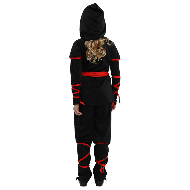 Image 3 - Free shipping New Children Super handsome Girl Kids black ninja warrior costumes Halloween Christmas Day New Year Party Dress Up