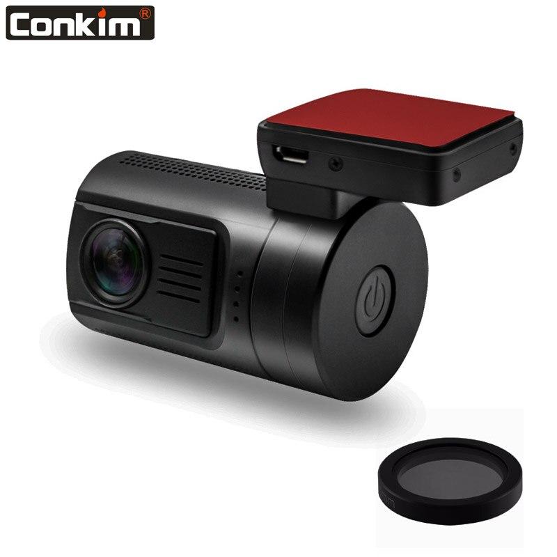Conkim Mini enregistreur vidéo de voiture DVR Ambarella A7 Super HD 1296 P 1080 P Full HD HDR caméra de bord traqueur GPS Mini 0806 s w/32G 64G TF