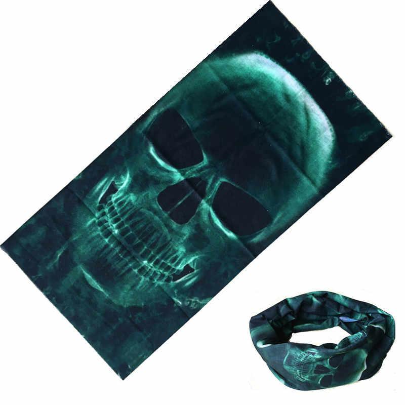 1 sztuk motocykl mężczyźni szalik Halloween rower maska narciarska na twarz tygrys zielony duch czaszka szyi cieplej bandany