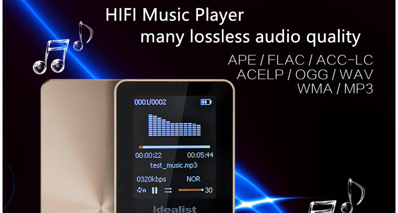 Idealist HIFI Metal MP4 Player Reproductor Outdoor Sport MP3 Radio Music Game Player Voice Recorder Ebook Walkman with Speaker 15