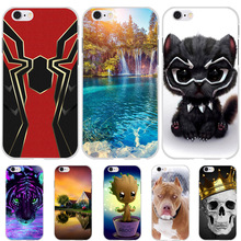For Apple iPhone 6 6S Case Cute Cat Animal Funda Silicon Cover iPhone6 iPhone6s Phone Cases