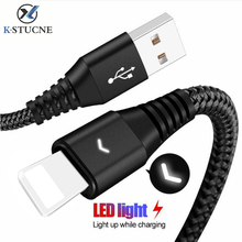 Купить с кэшбэком USB date Cable For iPhone Xr Xs Max 8 7 6 6s plus 5se Nylon Braid Fast Charging Cable For Lightning Apple iPad Charger Cord Wire