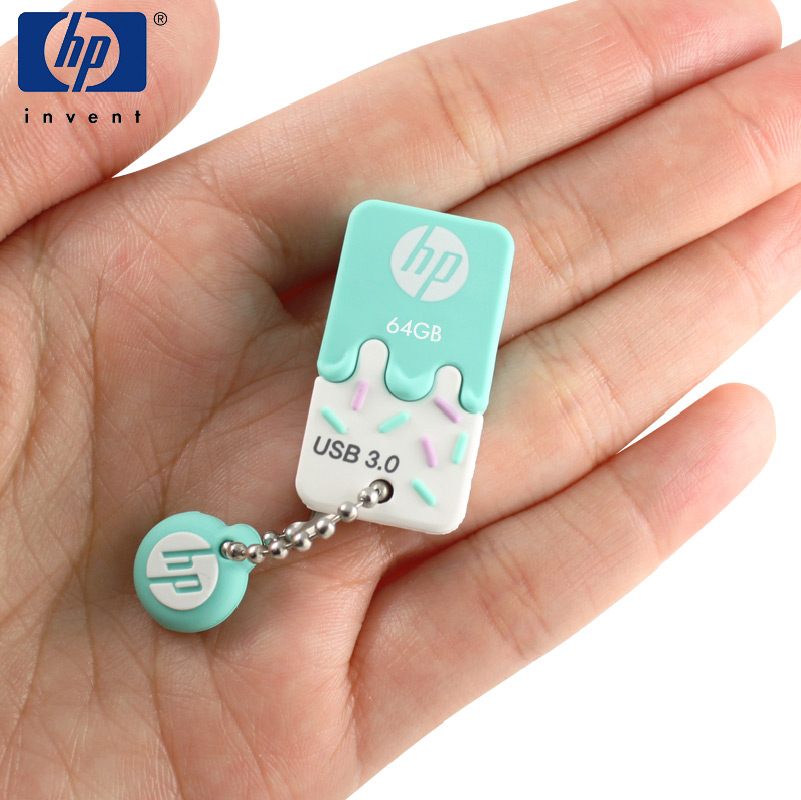 HP USB Flash Drive Usb 3.0 Stick pendrive Cle Usb X778w 64GB Usb Flash stick Cartoon Ice Cream Memory For Lovely girl pen drive