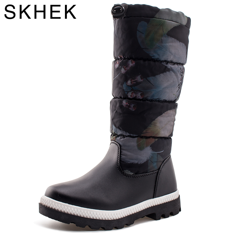 SKHEK New Winter Children Snowshoes botas na altura Cotton Soft Childrens Shoes Slip Boots Plush Girls Boots rubber
