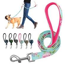 Поводок для собак, 6 цветов, поводок из нейлона с принтом для собак, поводок для прогулок и щенков, сетчатый мягкий поводок для тренировок, поводок для маленьких и средних собак