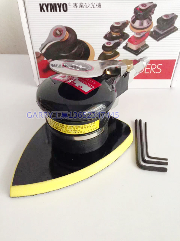 Pnuematic Sanders KYT Air Tools Palm Orbital Sander Polisher Big Triangle Pad CY-815ZM NM 90*135mm 4In*5Inch цена