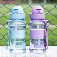 UZSPACE Baby Water Bottle Tritan Kid Bottles With Straw Child Drinking Bottle For Water Sport Feeding