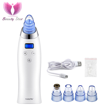 Beauty Star Vacuum Blackhead Remover Pore Cleaner Comedo Vacuum Suction Face Cleaner Diamond Dermabrasion Skin Peeling Machine Electric Face Cleanser
