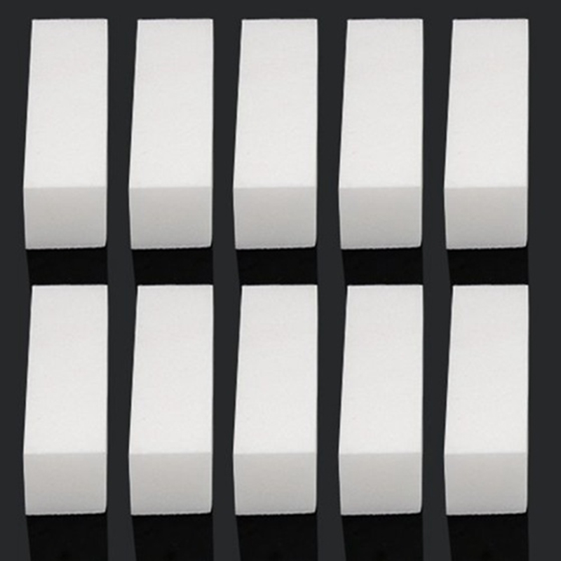 купить 10pcs/Lot White Nail Art Buffer Nail File Standing Block Tips Reusable Files Manicure Pedicure Tool for UV Gel Polish по цене 95.2 рублей