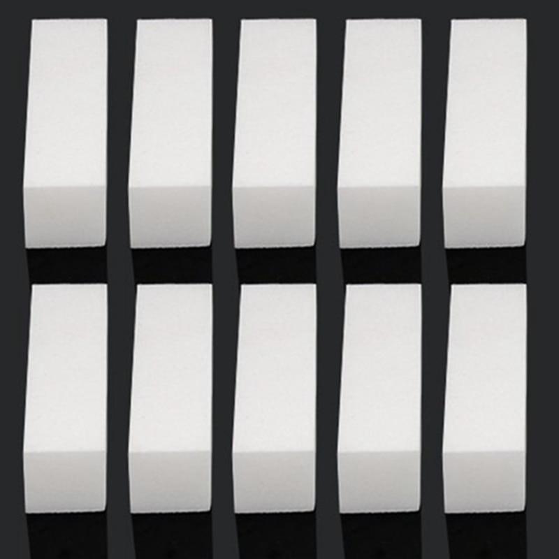 10pcs/Lot  White  Nail Art Buffer Nail File Standing Block Tips Reusable  Files Manicure Pedicure Tool  For UV Gel Polish
