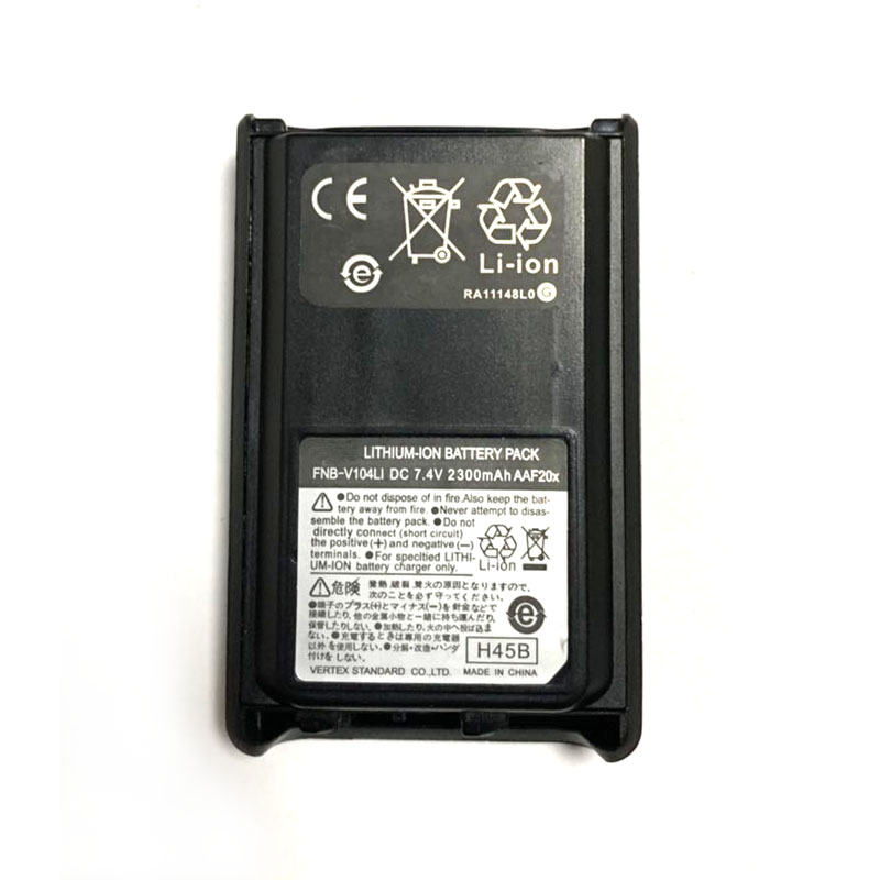 FNB-V104LI FNB-V104 High Capacity <font><b>7.4V</b></font> <font><b>2300mAh</b></font> Li-ion <font><b>Battery</b></font> For Yaesu Vertex VX-230 VX-231 VX-234 VX-228 Radio Walkie Talkie image