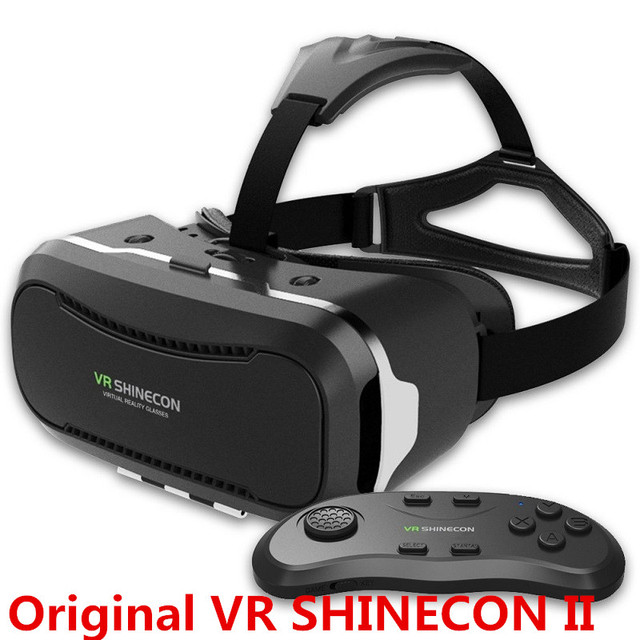 "Newest VR Shinecon Glasses II 2.0 Version VR Box Virtual Reality 3D Glasses with Original Bluetooth Gamepad for 4.3-6.0"" Phone"