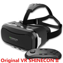 Newest VR Shinecon Glasses II 2.0 Version VR Box Virtual Reality 3D Glasses with Original Bluetooth Gamepad for 4.3-6.0″ Phone