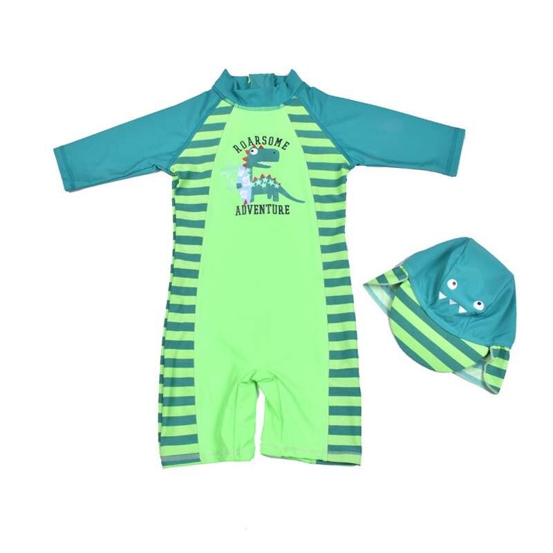 Siamesischer Badeanzug für Jungen Handsome Dinosaur Beach Sunscreen - Sportbekleidung und Accessoires - Foto 1
