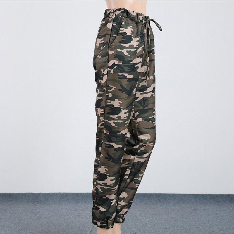 Pencil Plus Sizes Pants Cargo Jeans for Womens High Waist Camouflage Army Pants Girls Leggings Runners printed Trousers Casual in Pants amp Capris from Women 39 s Clothing