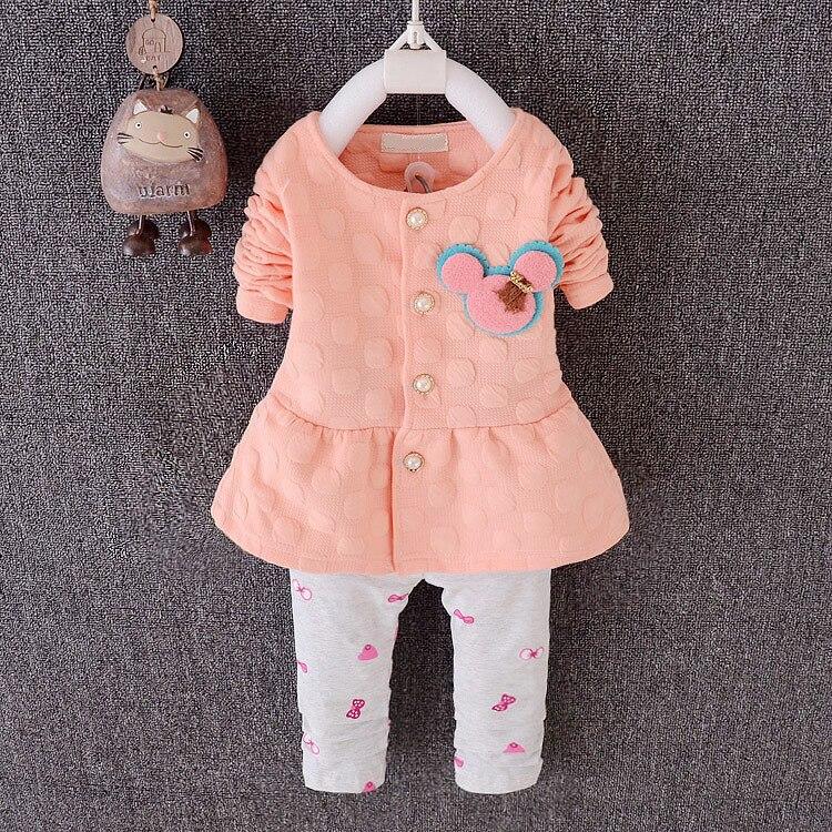 1b56fa73791860 Menina roupas em forma de coração de impressão bonito 2 PCS conjunto ...