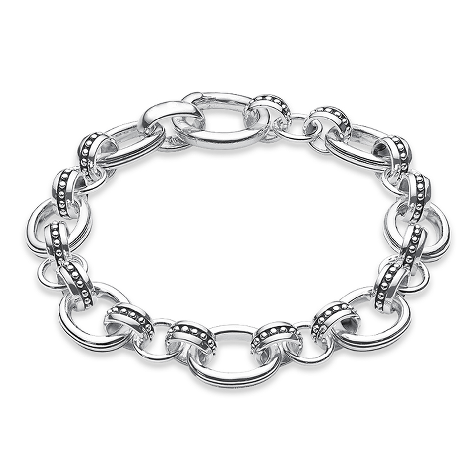 TS Jewellery 925 Sterling Silver Basic Link Chain Bracelets Fit Charms Thomas Style Heart of Rebel