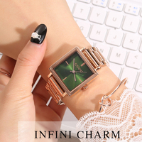 2019 Women's Square Rose Gold Alloy Quartz Watches GUOU Luxury Waterproof Simple Watch for Woman Ladies Gilrs Gift Wrist watches